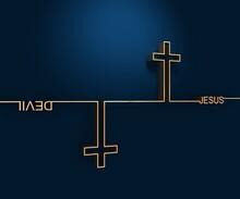 Jesus Vs Devil. Confrontation ...