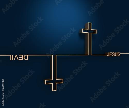 Fotografía Jesus vs Devil