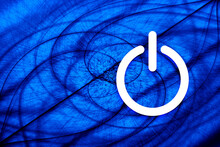 Power Icon Vortex Spiral Blue ...
