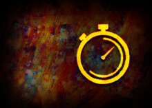 Stopwatch Icon Fractal Paintin...