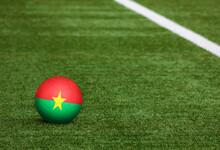 Burkina Faso Flag On Ball At S...