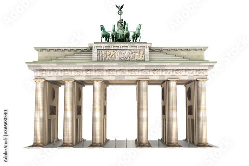 Fényképezés 3d Brandenburger Tor, freigestellt