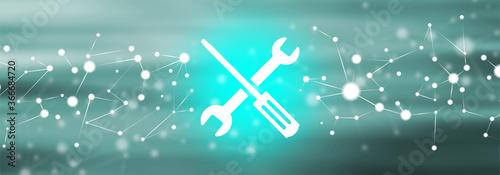 Obraz na płótnie Concept of maintenance system