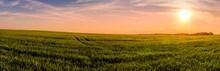 Panorama Of  A Sunset Or Sunri...