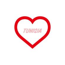 Tunisia Flag In Heart. I Love ...