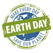 Earth Day Rubber Stamp Icon With Text Save Our Planet And Make Every Day Earth Day Isolated On White Background