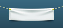 Realistic Textile Banner With ...