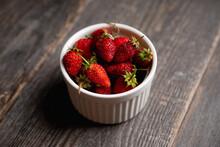 Red Ripe Strawberry In White B...