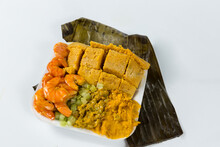 Abará, In Portuguese, Is A Ball Of Ground Black-eyed Beans Cooked In A Water Bath Wrapped In Banana Leaf. It Is A Typical Dish Of African Cuisine And Bahian Cuisine.