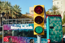 Traffic Lights And Touristic B...