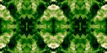 Repeated Grassy Color Grunge Ink Splash. Geometrical Fresh Green Psychedelic Dye Pattern. Seamless Healthy Bio Food Idea. Fern Green Eastern Tiles. Deep Green Tie Dye Wash.