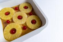 Preparing A Pineapple Upside Down Cake