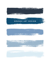 Blue Shades Art Brush Paint Te...