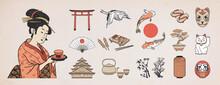 Set Of Japanese Design Element...