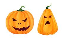 Orange, Angry, Cartoonish Pump...