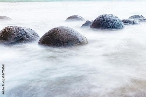 Fotografering Moeraki boulders