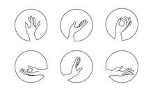 Vector Set Of Female Hand Logo...