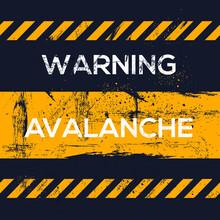 Warning Sign (avalanche), Vector Illustration.