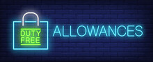 Allowances Neon Sign. Glowing ...