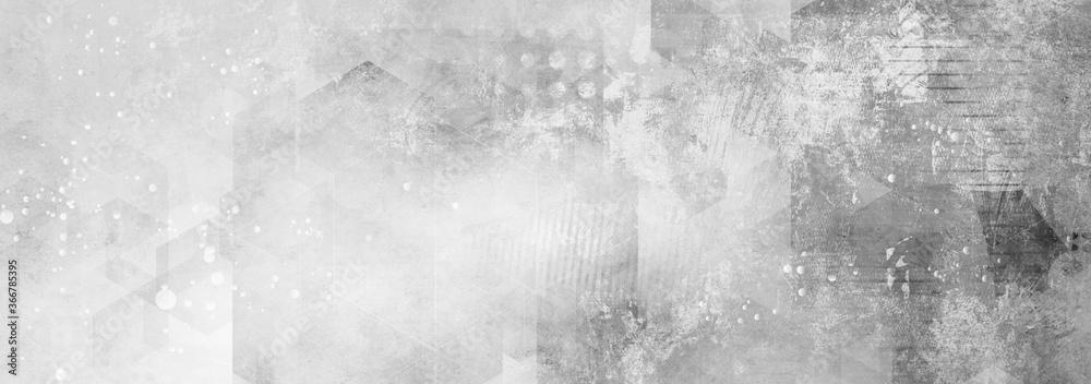 Fototapeta texturen geometrisch grau schwarz weiß banner