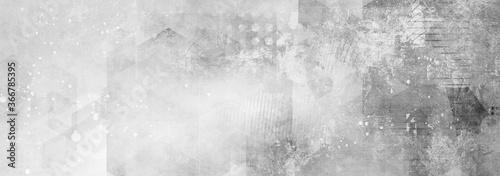 Fotografie, Obraz texturen geometrisch grau schwarz weiß banner