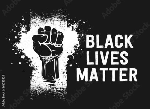 Fotografie, Obraz Black Lives Matter sign,  banner, sticker, flag, symbol, logo