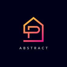 P Letter Real Estate Logo Desi...