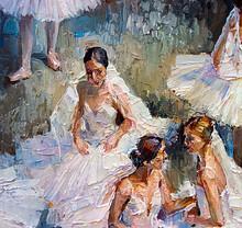 Ballerinas In Lush White Tutus...