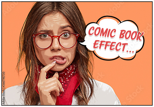 Fototapeta Comic Book Photo Effect Mockup obraz