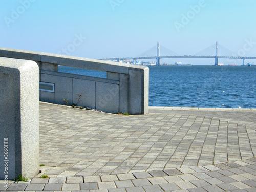 Fototapeta 臨港パーク 神奈川県横浜市西区みなとみらいの風景