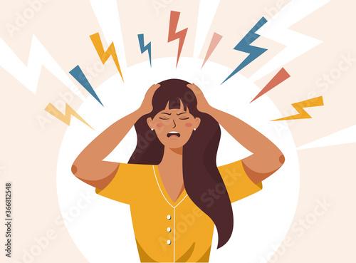 Photographie Stress, irritation factors, housekeeping, overwork, badmood