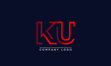 Creative Letter KU Or UK Logo ...