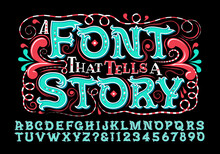 A Sweet And Fun Alphabet That Would Work Well On Party Invitations, Storybooks, Kids' Products, Etc.