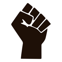 Black Lives Matter Fist Hand Graphic Icon Symbol Black Power Illustration Perfect For A Protest Sign, Card Or Shirt Design