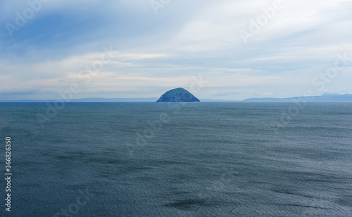 Canvas Ailsa Craig island in Scotland