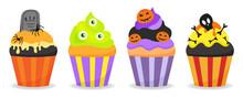 Halloween Decorated Cupcakes W...