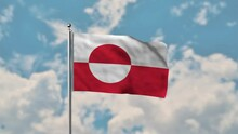 Greenland Flag Waving In The B...