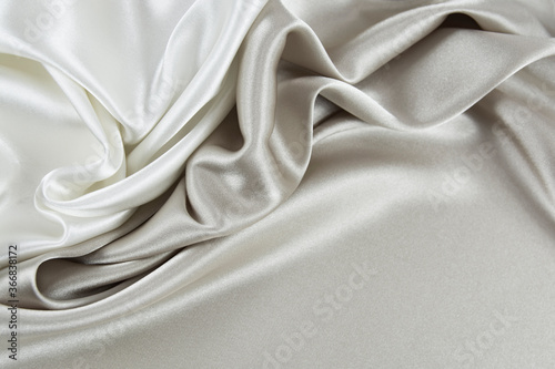 Fotografie, Obraz Satin fabric with gentle curves