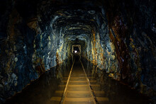 Derelict Flooded Tunnel With N...