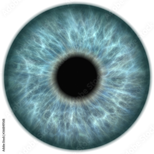 human light blue eye iris closeup Wallpaper Mural