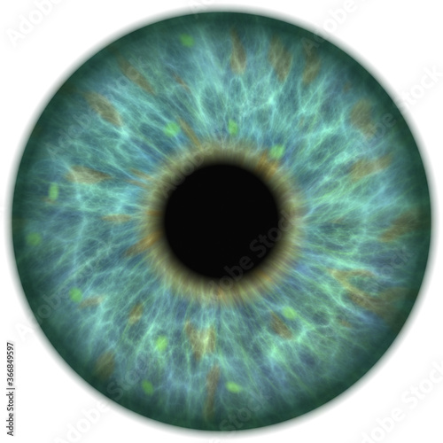 Foto human ocean green eye iris closeup