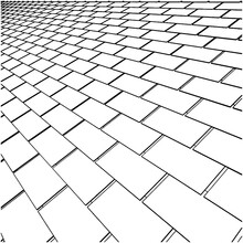Tile Roof Vector, Illustration Isolated On White Background. A Vector Illustration Of Roof Tile Background.