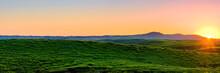阿蘇大観峰からの夕日...