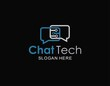 Chat tech logo symbol design inspiration