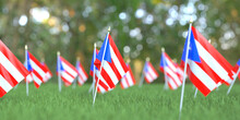 Small Flags Of Puerto Rico In ...