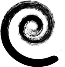 Grunge Spiral . Vector