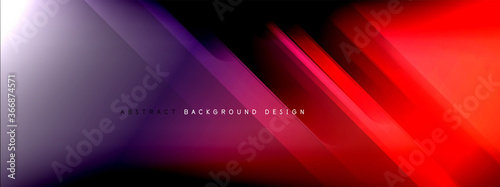 Motion concept neon shiny lines on liquid color gradients abstract backgrounds Fototapet