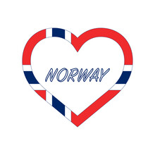 Norway Flag In Heart. I Love M...