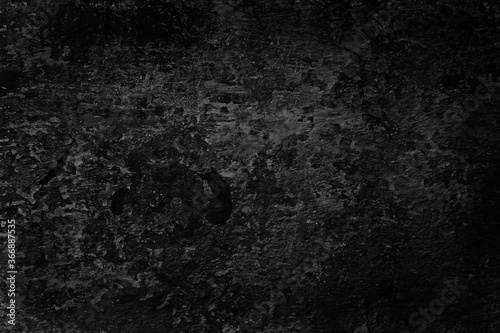 Fototapety, obrazy: abstract black background blank concrete wall grunge stucco cracked texture