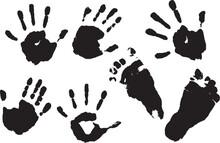 Tiny Baby's Hand And Feet Prin...